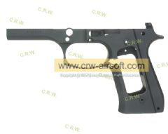 NOVA M9 Old Style Frame for Marui M9A1 Pistol (Matt Black) (TM-M9-FM02-BK)